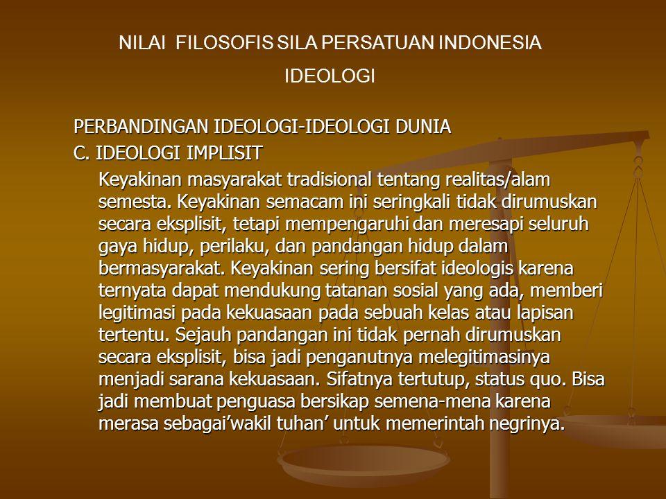 PERBANDINGAN IDEOLOGI-IDEOLOGI DUNIA C.
