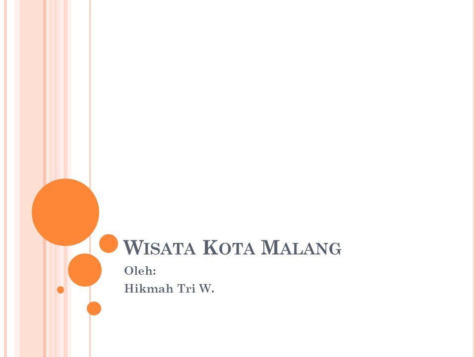 W ISATA K OTA M ALANG Oleh: Hikmah Tri W.