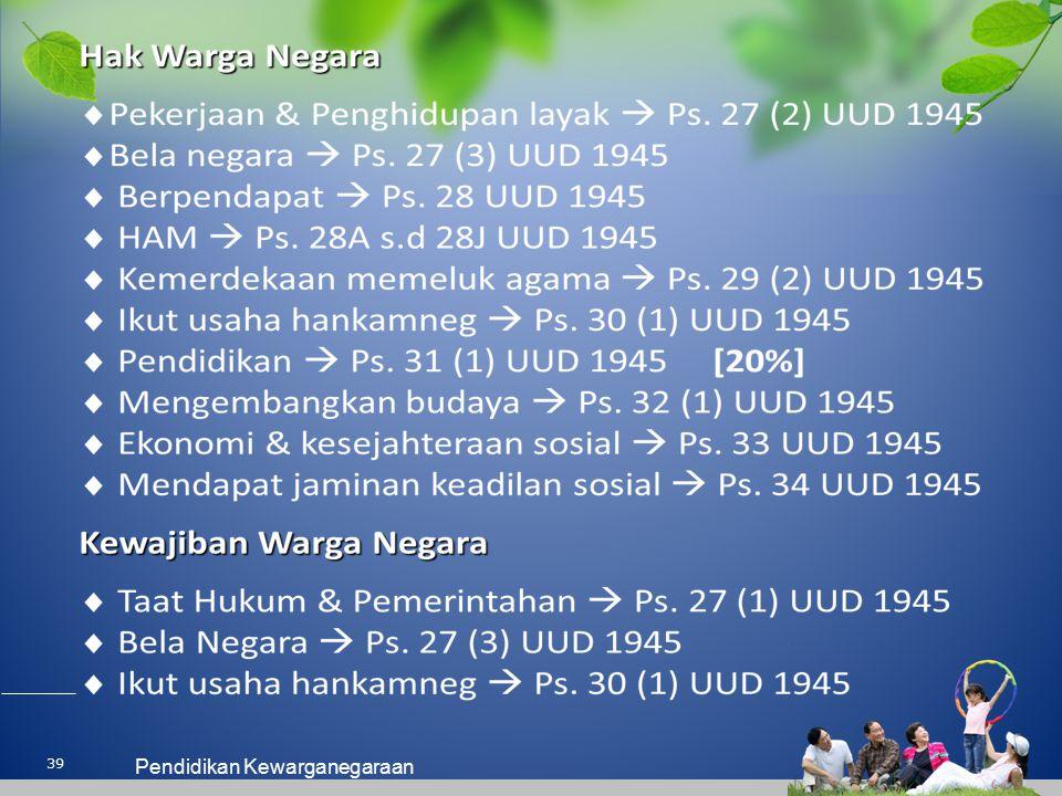 39 Pendidikan Kewarganegaraan