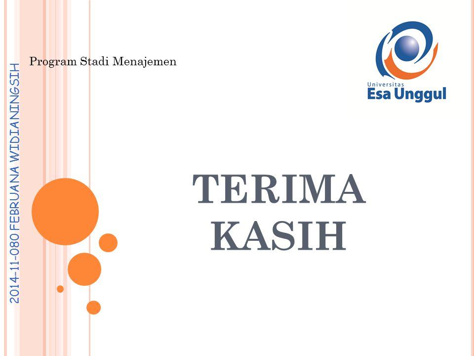 Program Stadi Menajemen 2014-11-080 FEBRUANA WIDIANINGSIH TERIMA KASIH