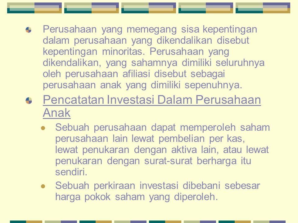 Laporan Keuangan Konsolidasi : Hubungan Perusahaan Induk dan Anak Perusahaan Induk dan Holding Company Perusahaan yang memegang saham perusahaan lain