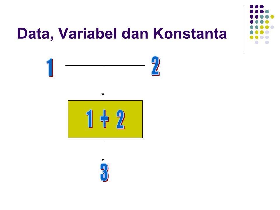 Data, Variabel dan Konstanta
