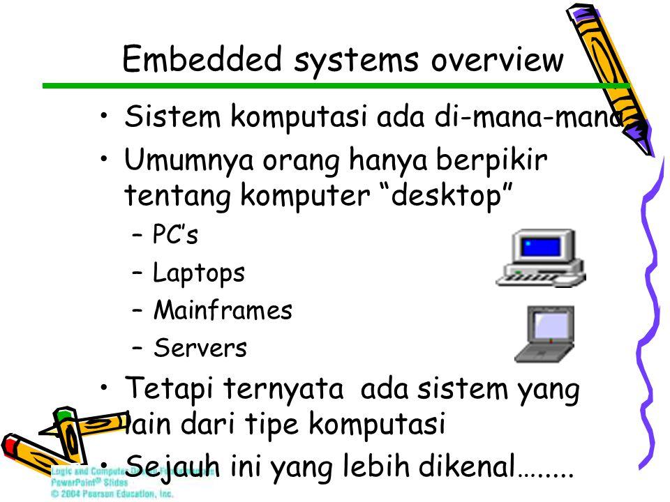 Embedded systems overview Sistem komputasi ada di-mana-mana.