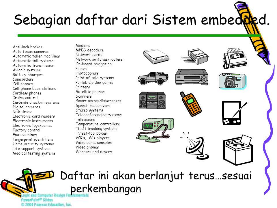 Sebagian daftar dari Sistem embedded.