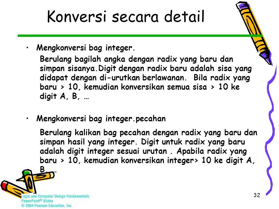 32 Konversi secara detail Mengkonversi bag integer.