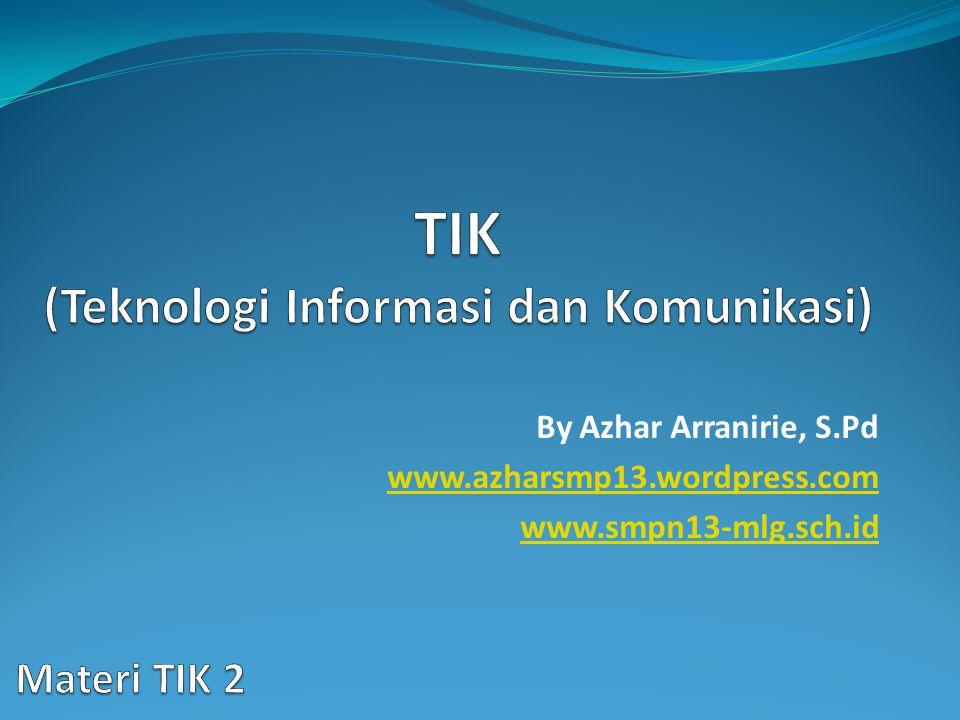 By Azhar Arranirie, S.Pd www.azharsmp13.wordpress.com www.smpn13-mlg.sch.id
