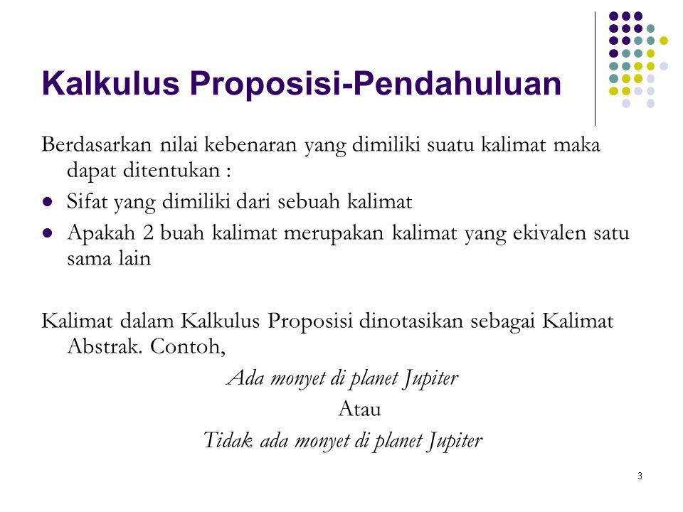 34 Kalkulus Proposisi-Tabel Jarang if (p and q) then (p or (not r) Menggunakan Tabel Jarang (sparse table)