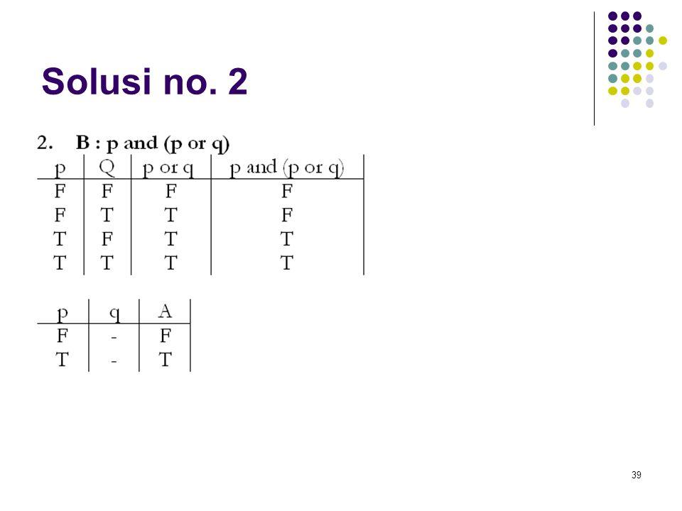 39 Solusi no. 2