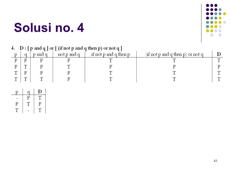 41 Solusi no. 4
