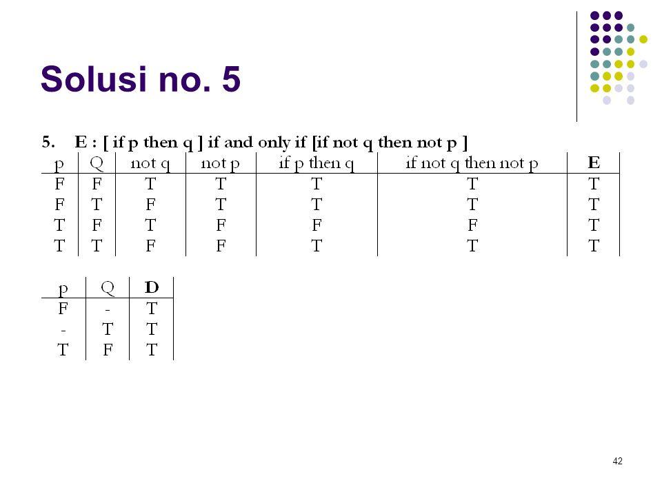 42 Solusi no. 5
