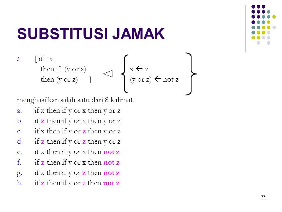 77 SUBSTITUSI JAMAK 3.