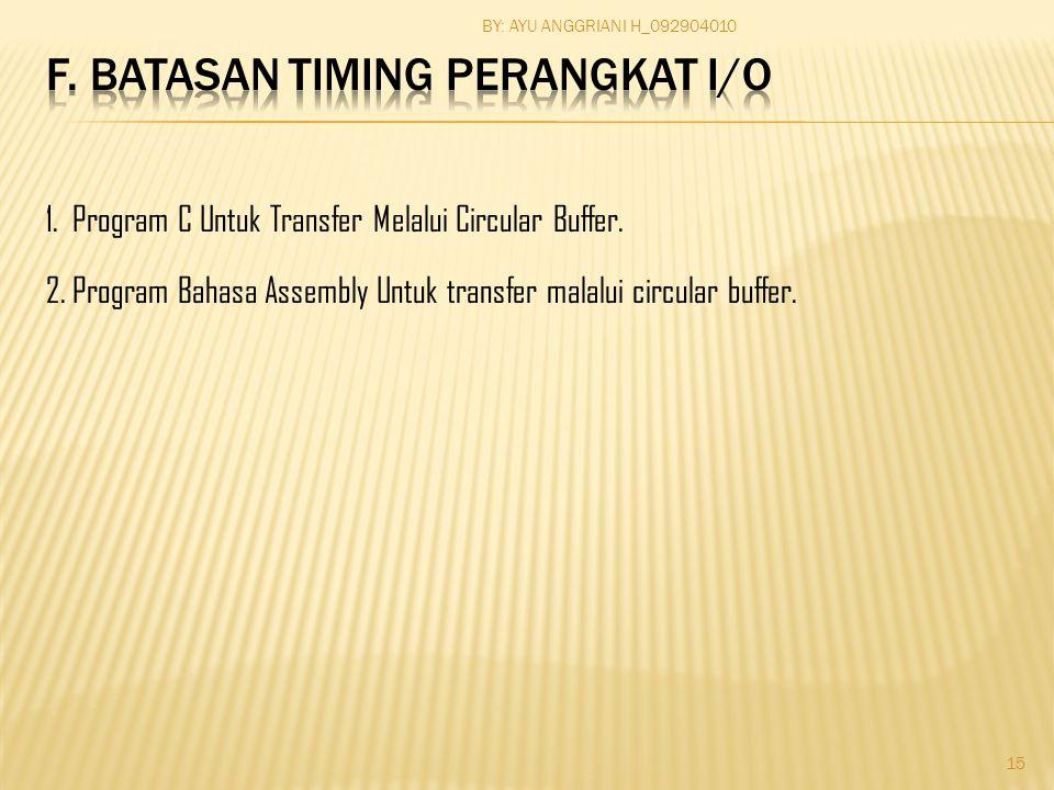 1. Program C Untuk Transfer Melalui Circular Buffer.