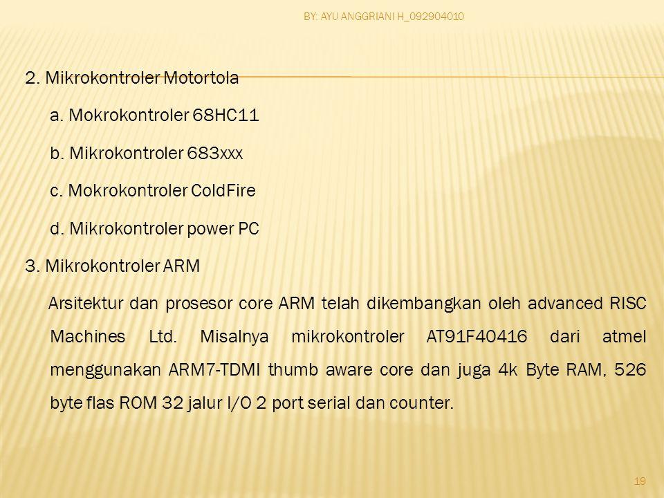 2. Mikrokontroler Motortola a. Mokrokontroler 68HC11 b.