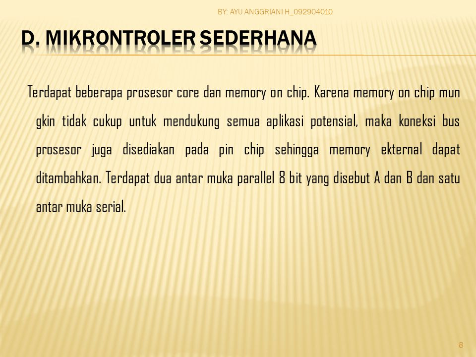 2.Mikrokontroler Motortola a. Mokrokontroler 68HC11 b.