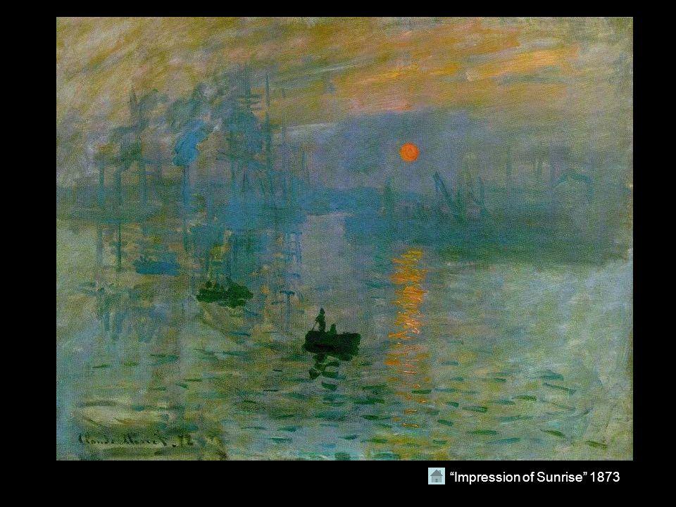 """""""Impression of Sunrise"""" 1873"""