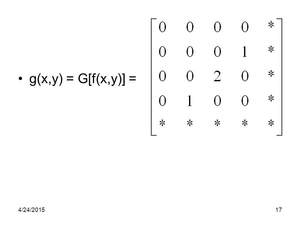g(x,y) = G[f(x,y)] = 4/24/201517