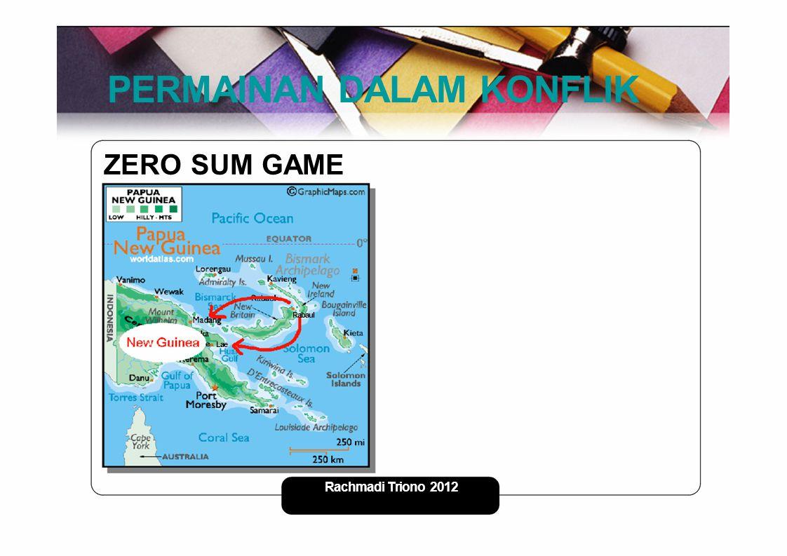 PERMAINAN DALAM KONFLIK ZERO SUM GAME Rabaul Lae Rachmadi Triono - 2012 2