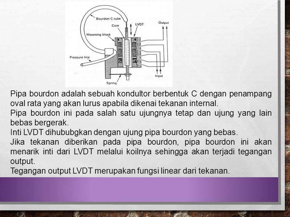 Pipa bourdon adalah sebuah kondultor berbentuk C dengan penampang oval rata yang akan lurus apabila dikenai tekanan internal. Pipa bourdon ini pada sa