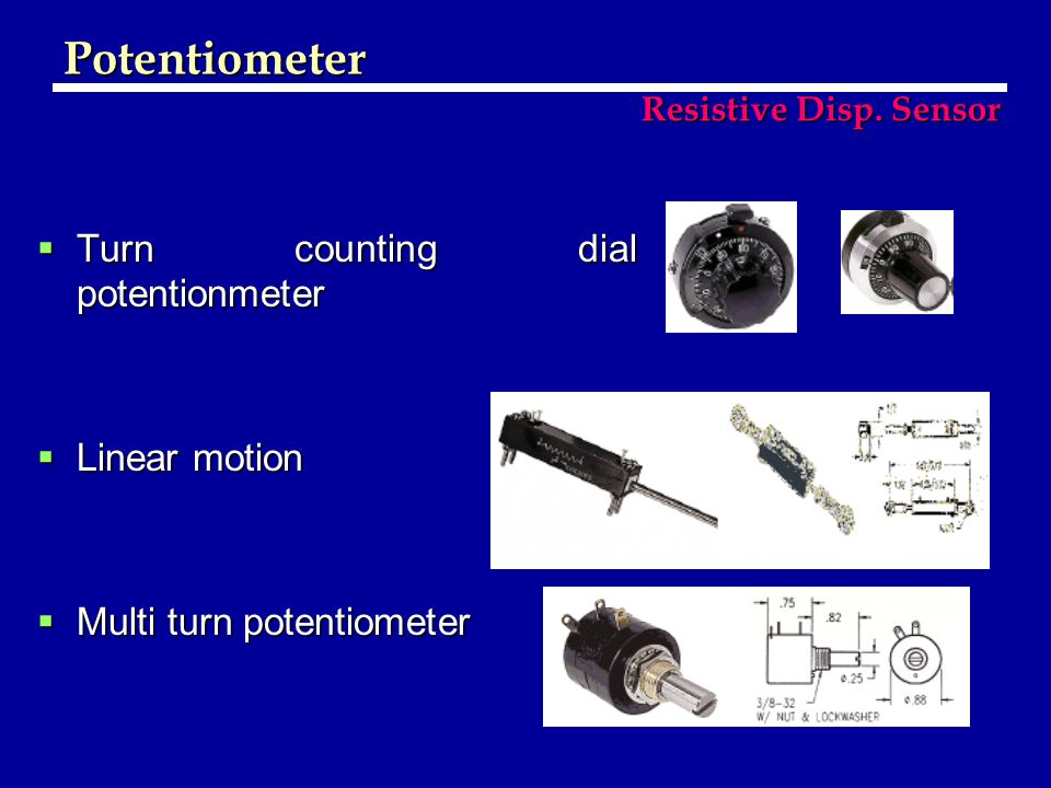  Turn counting dial potentionmeter  Linear motion  Multi turn potentiometer Potentiometer Resistive Disp.