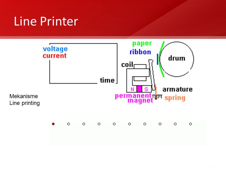 Line Printer Mekanisme Line printing