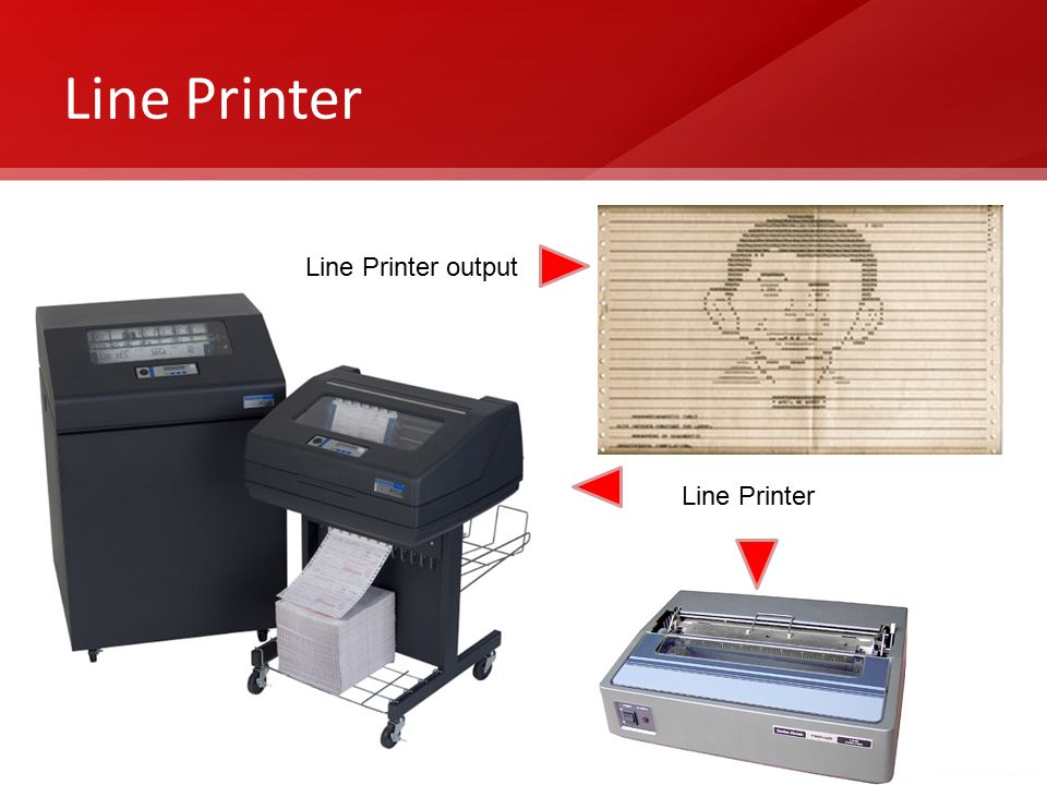 Line Printer Line Printer output Line Printer