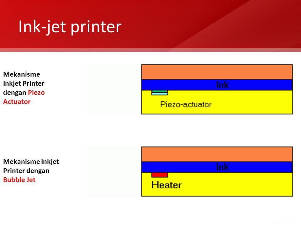Ink-jet printer Mekanisme Inkjet Printer dengan Piezo Actuator Mekanisme Inkjet Printer dengan Bubble Jet