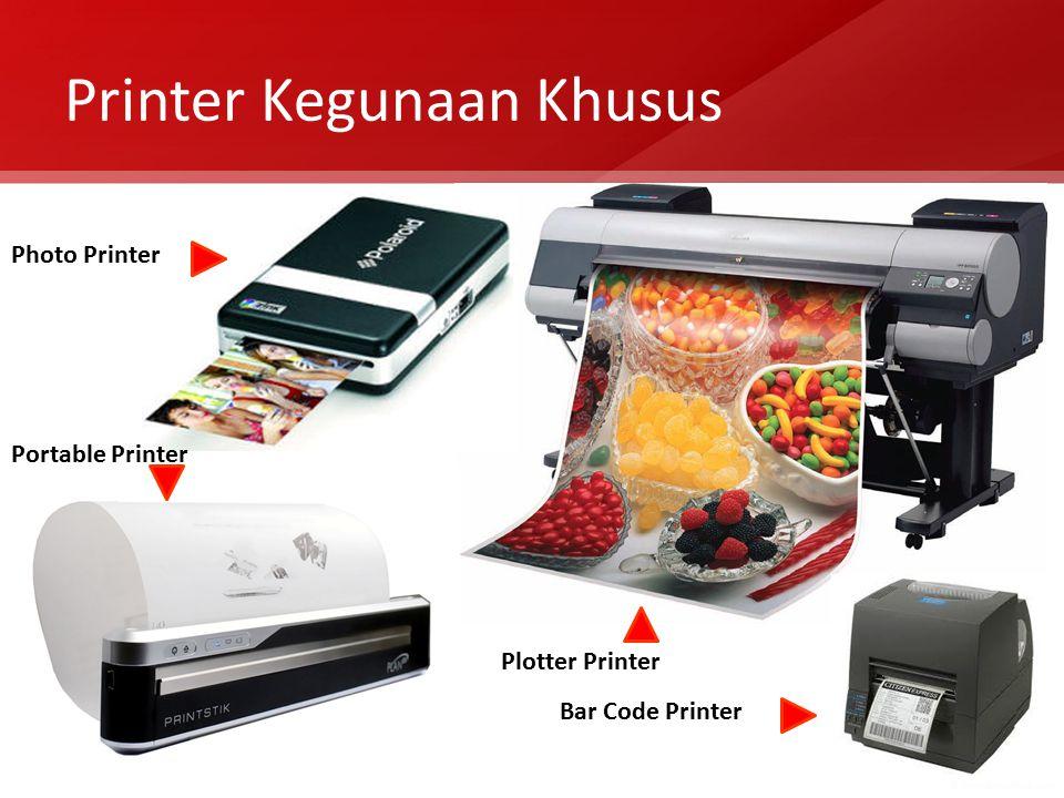 Printer Kegunaan Khusus Photo Printer Plotter Printer Portable Printer Bar Code Printer