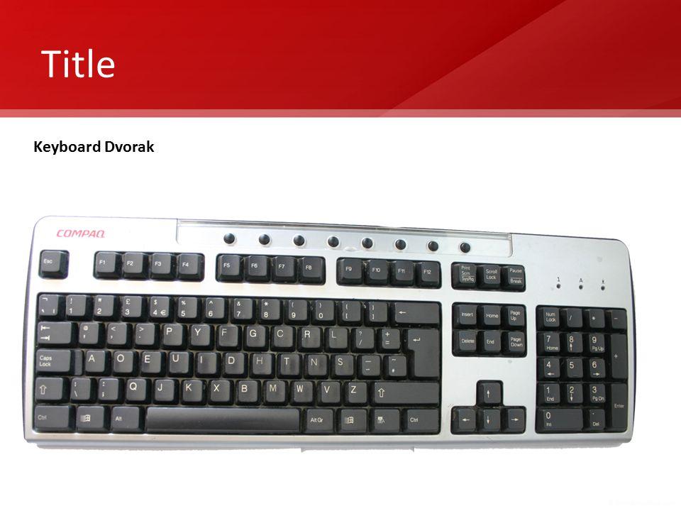 Title Keyboard Dvorak