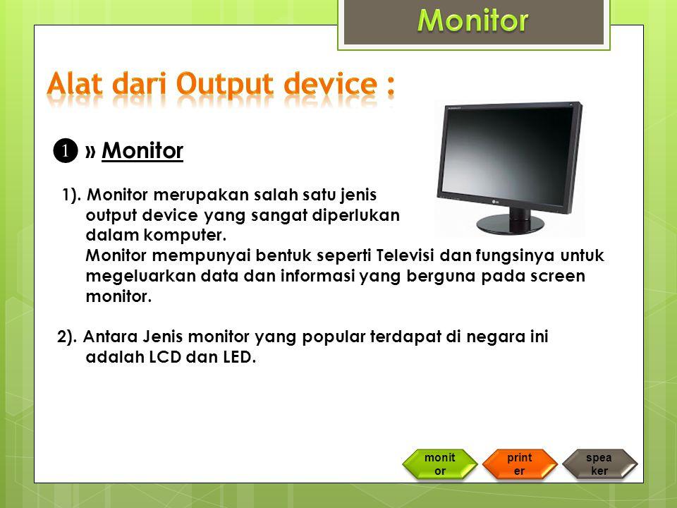 ❶ » Monitor 1).