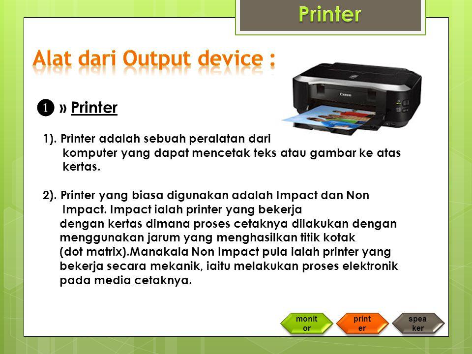 ❶ » Printer 1).