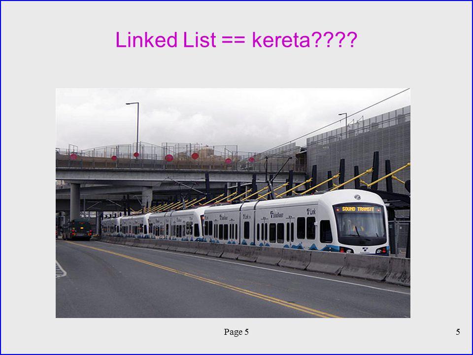 Linked List == kereta???? Page 55