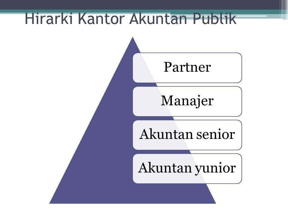 Hirarki Kantor Akuntan Publik PartnerManajerAkuntan seniorAkuntan yunior