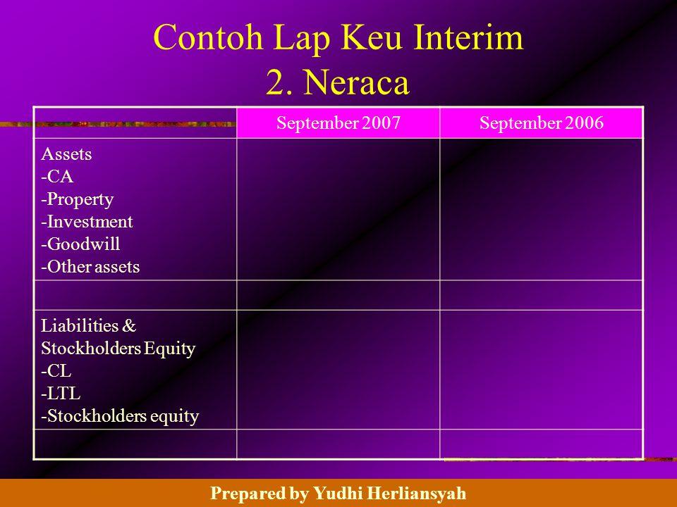 14 - 21 ©2003 Prentice Hall Business Publishing, Advanced Accounting 8/e, Beams/Anthony/Clement/Lowensohn Contoh Lap Keu Interim 2.