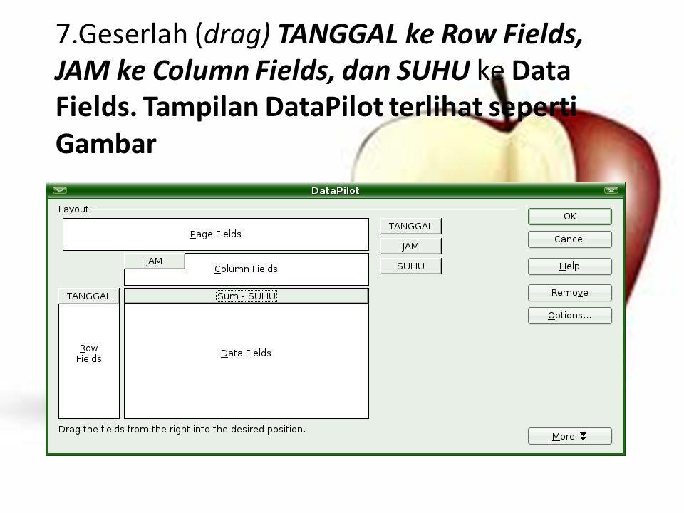 Pada bagian Data Range, kita dapat mengonfigurasikan wilayah data yang akan digunakan untuk menampilkan grafik.