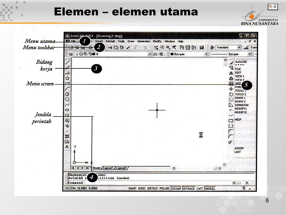 7 Pengguna / Pemakai Autocad adalah program utk menggambar yang berbasis vektor, dimana pemakai dpt dgn mudah memperbesar atau memperkecil ukuran gambarnya tanpa mengubah kualitas gambar tersebut.