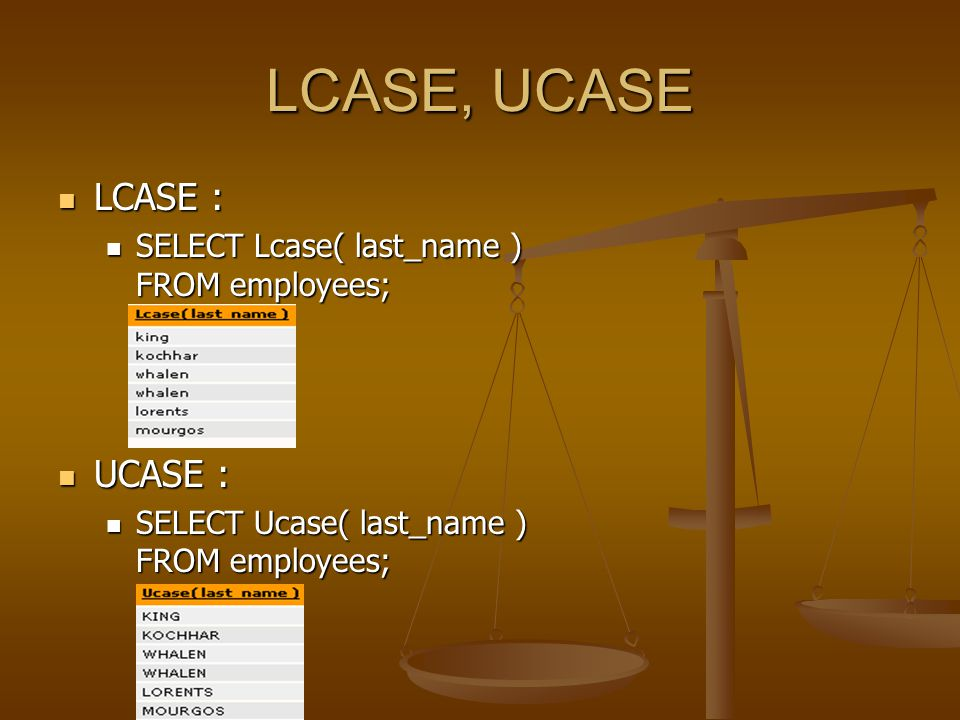 CONCAT,INSTR CONCAT: CONCAT: SELECT concat( first_name, last_name ) NAME FROM employees; SELECT concat( first_name, last_name ) NAME FROM employees; INSTR: INSTR: SELECT last_name, instr( last_name, a ) contain a ? FROM employees; SELECT last_name, instr( last_name, a ) contain a ? FROM employees;