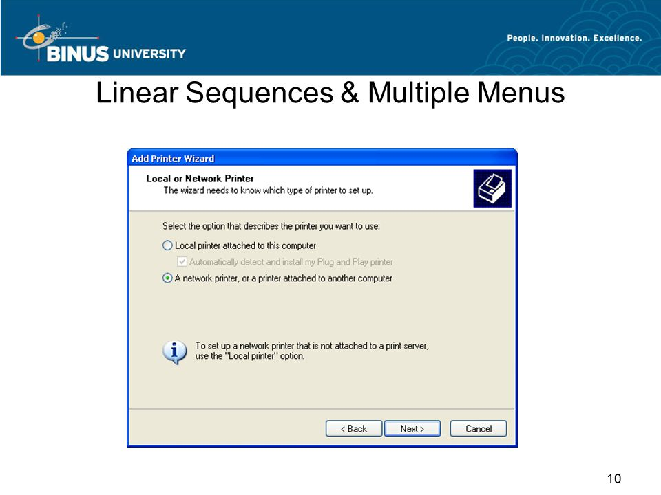 Linear Sequences & Multiple Menus 10