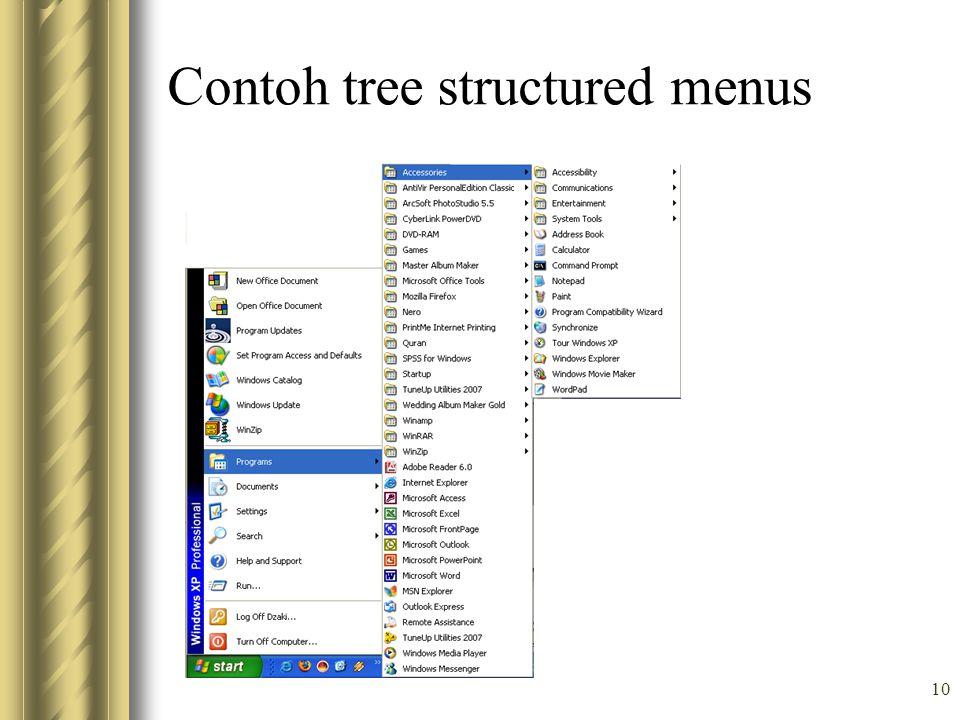 10 Contoh tree structured menus