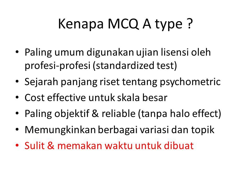Kenapa MCQ A type .