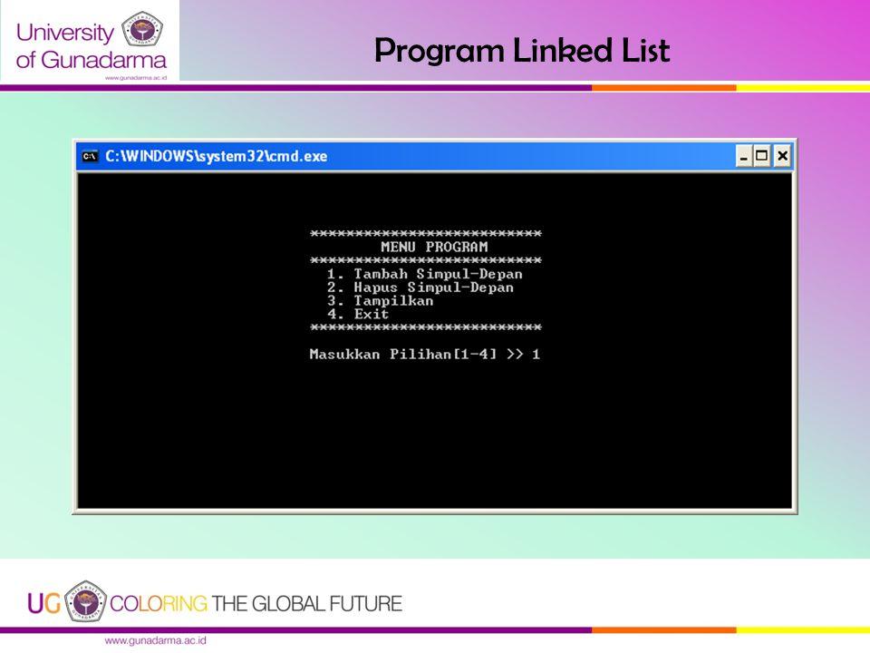 Program Linked List