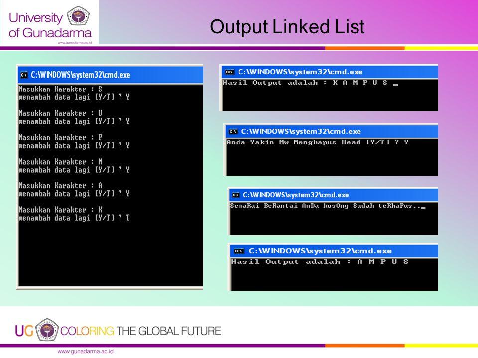 Output Linked List