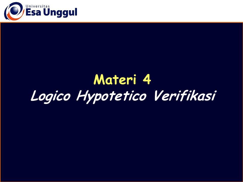 Rumuskan keterkaitan variabel independent dengan variabel dependent menjadi hipotesis Hipotesis adalah dugaan logis yang dijadikan sebagai kemungkinan pemecahan masalah Perumusan hipotesis Materi Belajar