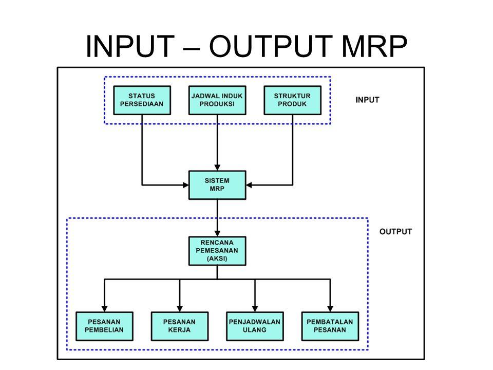 INPUT – OUTPUT MRP