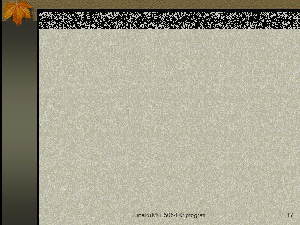 Rinaldi M/IF5054 Kriptografi17