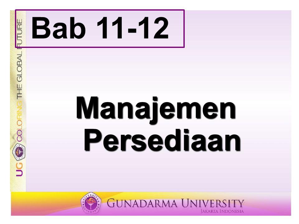 Manajemen Persediaan Bab 11-12