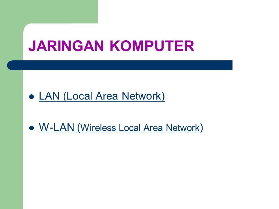 WLAN (Wireless Local Area Network) Sejarah dan Standar WLAN Pengertian Frekuensi Topologi Roaming Perangkat WLAN Instalasi WLAN INDEX