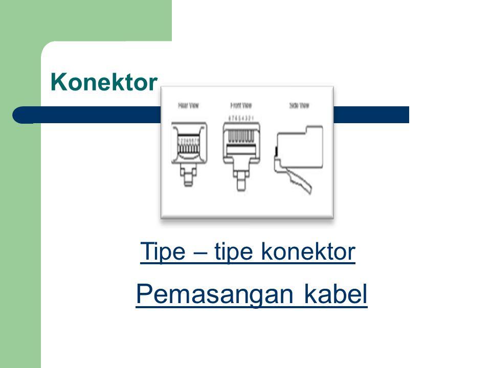 Konektor Pemasangan kabel Tipe – tipe konektor