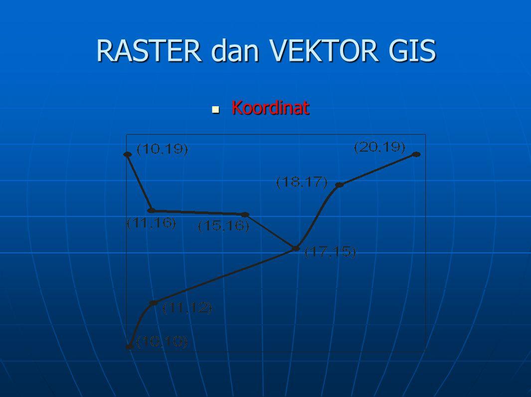 RASTER dan VEKTOR GIS Koordinat Koordinat