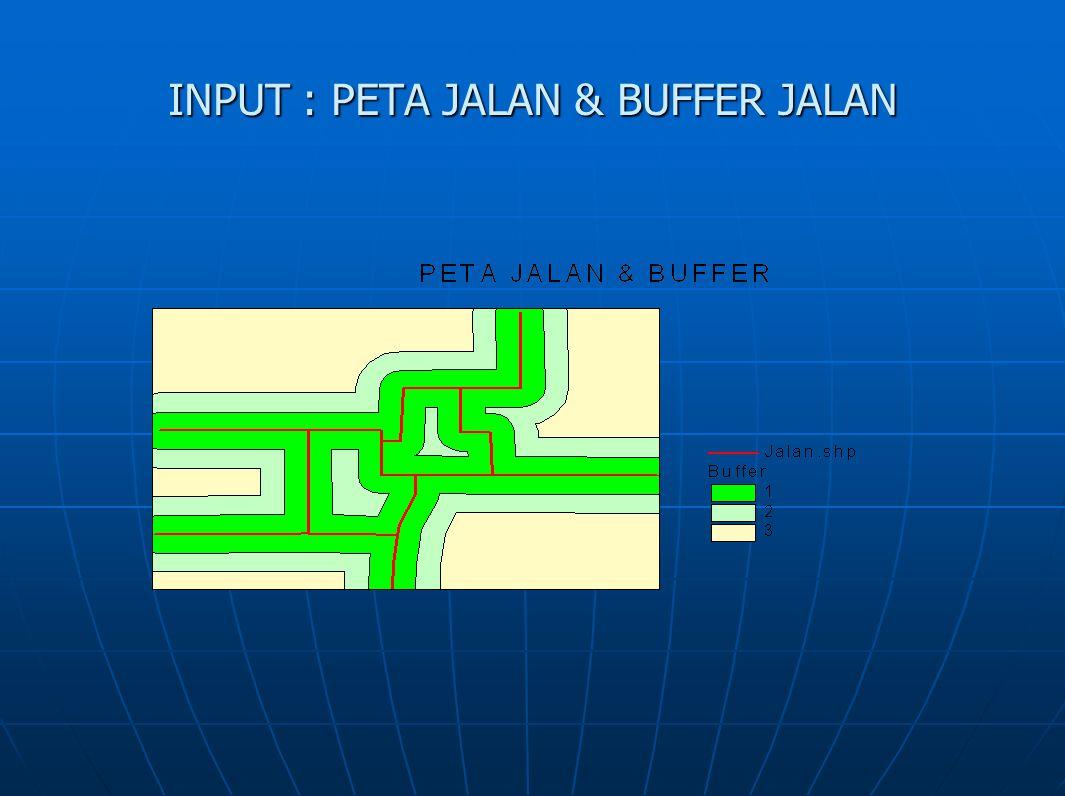 INPUT : PETA JALAN & BUFFER JALAN