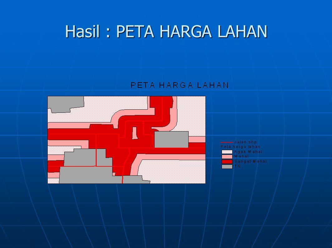 Hasil : PETA HARGA LAHAN